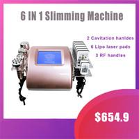6 in 1 Kavitation Körperformung Slimming Maschine Ultraschallkavitation RF Gesichtheben Vakuumlipo Laser Gewichtsverlust Beauty Instrument