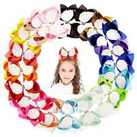 Dziewczyny Jojo Kokony Spinacz 6 cal Baby Angel Wings Klipy Włosów Cukierki Kolor Łęk Barrettes Dzieci Rainbow HairClip Akcesoria do włosów TTA1818