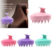 5 colores de mano de silicona del cuero cabelludo champú de masaje cepillo de lavado ducha peine del pelo Mini cabeza Meridian masaje peine