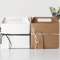 큰 크래프트 종이 사탕 상자 선물 가방 결혼식 파티 선물 호의 생일 파티 크리스마스 공급 50pcs / lot