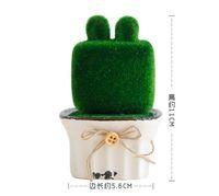 Simulation bonsaï création flocage poupée en céramique en pot affichage plante verte décoration de la maison bureau petits ornements