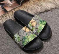 Top uomo sandali donna con scatola di fiori corretta sacchetto della polvere scarpe firmate stampa serpente lusso scivolo moda estiva ampia sandali piatti pantofola a16