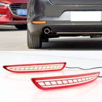 1 Satz Heckreflektor-Nebel-Lampen-Auto-LED Heckstoßstange Bremslicht Dynamische Blinker Licht für Mazda 3 Mazda3 Axela 2019 2020