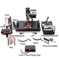 11 في 1 كومبو سوينغ الحرارة الصحافة الآلة متعدد الوظائف التسامي القدح آلة لكاب الحالات تي شيرت الهاتف القلم