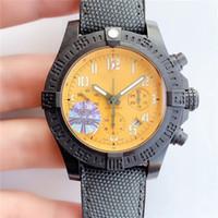 GF Factory Timing Watch Automatische mechanische Bewegungsuhr von 46mm Kohlefasergehäuse Einweg Ratsche Ring doppelt Anti-Dazzle Saphirtisch
