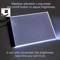 Tableta gráfica Tableta de dibujo A5 LED Arte fino Plantilla Tablero de dibujo Caja de luz Tablero de rastreo Dropshipping de tres niveles