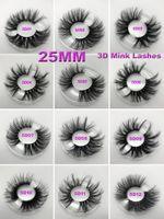 Ciglia di visone 3D 5D 25mm Ciglia di visone lunghe spesse con occhiello di imballaggio occhi ciglia maquillage