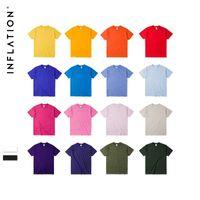 Мужские футболки на инфляции Упаковка продажи летние мужчины футболка Джерси с коротким рукавом футболка 100% хлопок TEE Homme 20 цветов 035S16