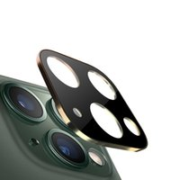 Lens Camera Protector de vidro temperado para iPhone 11 pro 11 pro Max com 330pcs liga de titânio cobertura completa / LOT