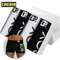 Sexy Men CMENIN 4 pezzi di marca della biancheria intima boxer di cotone pugili Mens Boxer Intimo Gay Underwear Uomo mutande maschio Mutandine CX200622