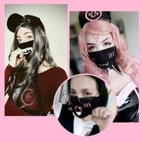 Party Anime Reusable Mask Adulto Bambini divertimento divertimento Fancy Dress Abito a mezza faccia a metà viso bocca maschera riutilizzabile polvere caldo antivento in cotone maschera lavabile