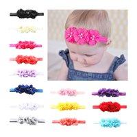 14 Farbe Säugling schönes Mädchen Haarband Perle Blume Stirnband nettes Baby-Mehrfarbenhaarschmuck