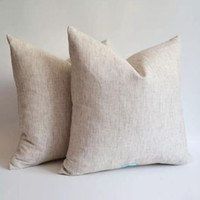 1 Stück ALLE GRÖSSEN Leinen-Baumwolle gemischt Naturgrau Kissenbezug Grau Blank Leinen Kissenbezug 240 g / m² Naturfein Leinen Kissenbezug