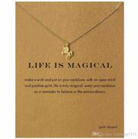 Мода женщины нет dogeared логотип ожерелье Единорог кулон короткие ключицы ювелирные изделия золото серебряная цепь животных ожерелье сплава подвески ожерелья