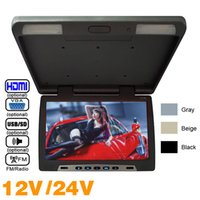 3- Color Car Bus 15. 6 inch Roof Mounted LCD Monitor Flip Down...