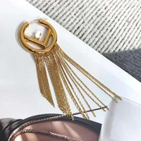 Newest Exaggerated Fringe Tassel jewelry Women F Letter earring for Party Designer Concert Women Fashion Dangle Stud Earrings free shipping