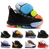 cheap for discount a5ab7 55078 Chaussures lebron pour hommes 16 chaussures de basketball multicolore  Fruity Pebbles Gold Noir Violet Léopard Rouge Garçons Filles Femmes Jeunes  Baskets ...