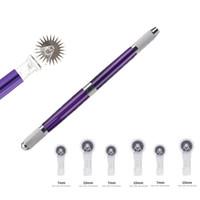 1pc Microblading Tattoo Pen pour Manuel machine de maquillage permanent Pen Sourcils Tattoo Kit d'outils à main 3 en 1 avec 5pcs rouleau aiguille