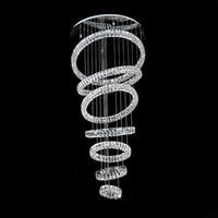Luxus Kronleuchter Beleuchtung Moderne 7 Ringe Kristalllampe Für Wohnzimmer Moderne LED Lüster de Cristal Wohnkultur Licht