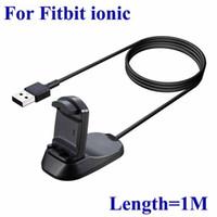 Fitbit Ionic Akıllı İzle için Çok Fonksiyonlu Şarj USB Şarj Kablosu Beşiği Şarj Dock İstasyonu 1m Uzunluk Tel