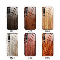 caso de telefone vidro temperado para Xiaomi redmi nota 8 T8 pro note7 7A 8A Nota 5 casos madeira cover cover design da parte traseira