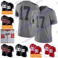 Custom NCAA Ohio State Buckeyes Football Haskins Jr. George Dobbins Red OSU  College Jerseys Any Name Number White Grey Black 27e7d1de8