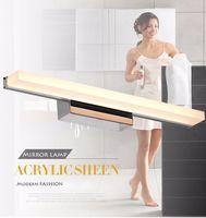 Plus longue LED Mirror Light 0.4M ~ 1.5M AC90-260V Moderne Cosmétique Acrylique Applique Murale Salle De Bains Éclairage Imperméable À L'eau Livraison Gratuite