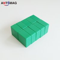 20Pack Небьющиеся Пластиковые Покрытием N52 Неодимовые Бар Магниты 15x15X7.5 ММ, постоянные Доказательство Воды DIY Магниты