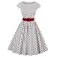 94e9d20117ae7 Wipalo Polka Dot Vintage Elbise Kadınlar Retro 50 S Rockabilly Robe Yaz Pin  Up Elbise Yüksek