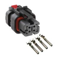 AMP / TE 4 Pin Авто 776524-2 датчика зажигания, 4Pin цепи датчика давления ремонта разъем для экскаватора Картер E320D / C6-серый и т.д.
