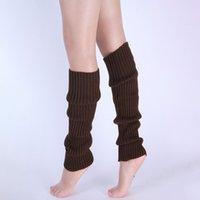 Moda feminina malha com nervuras Polainas meias Sólido cor Joelho inverno perna esportes Yoga mais quente meias navio da gota meias