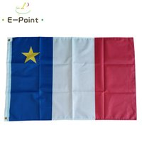 Акадийский флаг Канада французская канадская провинция 3*5 футов (90 см*150 см) полиэстер флаг баннер украшения летающий дом сад флаг праздничные подарки
