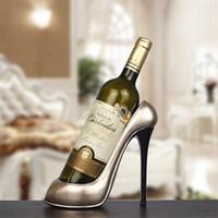 수지 높은 뒤꿈치 신발 모양의 와인 병 홀더 세련된 와인 선반 웨딩 파티 선물 홈 주방 바 액세서리 추천 랙