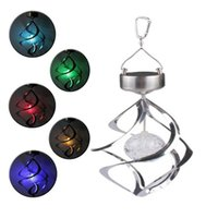 7 Colors changeable led Solar Lamps Lawn Light LED Wind Chim...