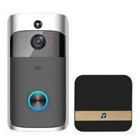 Vidéo Doorbells WiFi HD Imperméable Caméra Visual 720p + 1pcs Dingdong pour iOS Night Vision IR Interphone Ring Sécurité de téléphone