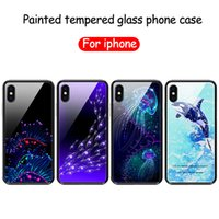 For iphone x phone case marine series glass case for iphone ...