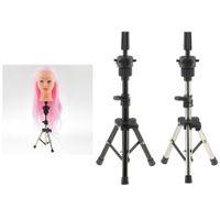2 Stück Heavy Duty Edelstahl-Metall Kosmetologie Salon Mannequin Manikin Trainings-Praxis Kopfhalter Stativ Rack-Shelf