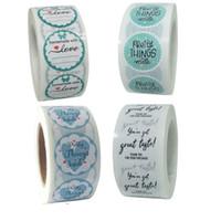 500pcs Rolo Adesivos Handmade com festa de casamento do amor Decor Seal Tag Etiqueta Papel Craft Gift Envelope Box convite do cartão de Acessório