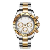 Lüks erkek saatler 40mm 116500LN Otomatik Altın İzle Orijinal kutusu kağıtları 2813 hareketi Seramik çerçeve Asya erkek saatler erkekler kol