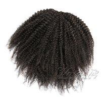VM 페루 자연 블랙 아프리카 kinky 곱슬 4A 4B 4C 포니 테일 120g 인간의 말꼬리 처리되지 않은 처녀 인간의 머리카락 포니 테일