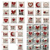 الحب عيد الحب وسادة حالة إلكتروني رمي المطبوعة غطاء وسادة وسادة القضية الكتان منزل حزب أزياء ديكور 45CM * 45CM FFA3552-9