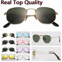أعلى جودة 51mm المعادن 3548 معدن بلات UV400 مسدس gafas مسطحة النظارات الشمسية الرجال النساء خمر تصميم العلامة التجارية نظارات شمسية Oculos دي سول