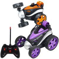 Super Stunt Tanzen RC Auto Tumbling elektrische Gesteuert Mini Auto Lustige Roll Rotierenden Rad Fahrzeug Spielzeug für Geburtstagsgeschenke Y200413