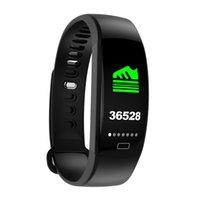 F64 Smart Armband Blut Sauerstoff Monitor Smart Uhr GPS Wasserdichte Schlaf Monitor Fitness Armband Smart Wristatch Anruf Alarm Für iOS Android