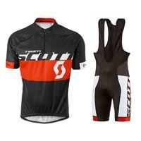 Pro Team Scott Ciclismo Jersey Set MTB Uniforme Ropa de bicicleta Ropa de secado rápido Ropa Ropa para hombre Corto Maillot Culotte 32040