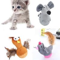2019 del gato del perro nueva mascota del ratón del juguete del polluelo de aves Animales gato juguetes interactivos Teaser juguete de peluche animales de juguete