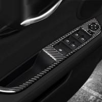 Fenêtre voiture en fibre de carbone Lifter Bouton de commande cadre autocollants de fenêtre Panneau de commutateur Accoudoirs couverture pour BMW Z4 E89 2009-2015
