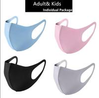Stokta Tasarımcı Anti Toz Yüz Ağız Kapak PM2.5 Maske Maske toz geçirmez anti-bakteriyel Yıkanabilir Yeniden kullanılabilir Buz İpek Pamuk Maskeler Araçları