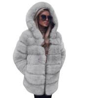 Mulheres casaco moda luxo casaco de pele de peles com capuz outono inverno quente casaco casaco casaco mulheres