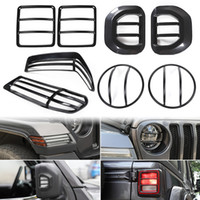 Far kapağı / tekerlek Kaş lamba kapağı / Ayna Ayna dönüş sinyali Dekorasyon / Kuyruk aydınlatma Koruması için Jeep Wrangler JL 2018+ Shahara